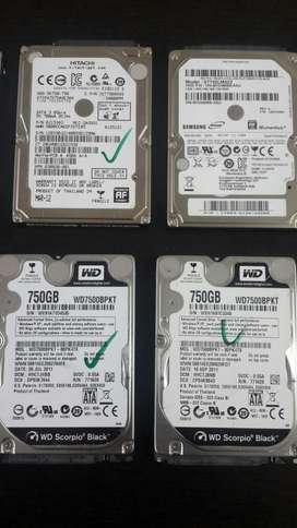 Discos Duros de 750gb Portátil