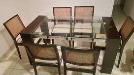 mesas mas 6 sillas
