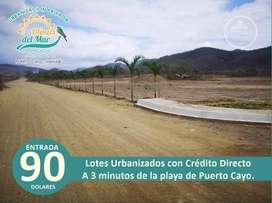 VENTA DE LOTES TOTALMENTE URBANIZADOS CON $90 DE ENTRADA /SD3