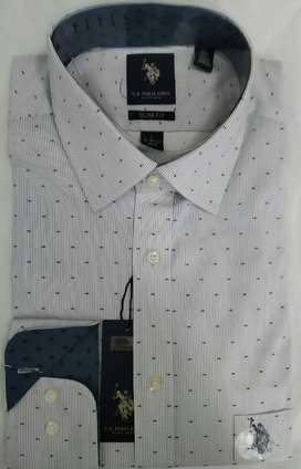 Camisa Us Polo Talla L Slim Fit