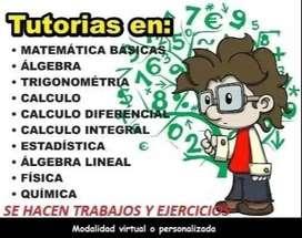 CLASES PERSONALIZADAS DE MATEMÁTICAS, FÍSICA Y QUÍMICA. ASESORÍAS EDUCATIVAS