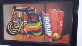 Cuadro típico vallenato