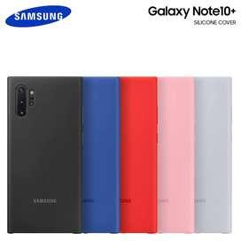 Case Original Silicone Cover @ Galaxy Note 10 Plus I Rosa Negro *