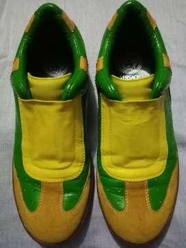Zapatos VERSACE de piel, originales, para caballero, talla 43
