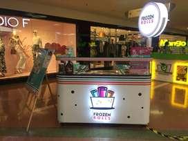 Se vende negocio/franquicia de helados en rollitos, excelente oportunidad