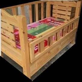 camas cunas en madera pino con o sin colchon
