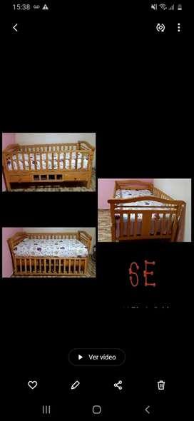 Se vende  cama cuna de plaza y media