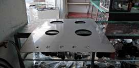 Mesa en acero inoxidable para estufa integral