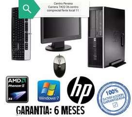 OFERTA HP intel core i3 tercera generación PARA JUEGAR O TRABAJAR GRÁFICO CON MONITOR 19 TECLADO MAUSO GARANTÍA