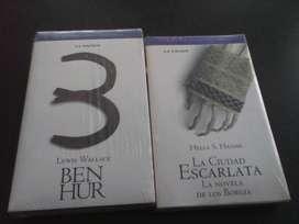 Ben Hur y La ciudad escarlata colección La Nación 250 cada uno