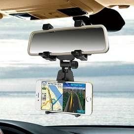 Soporte del celular al espejo retrovisor del carro