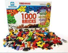 LEGO 1,000 Bricks 1000 Toy Building Blocks Plus 70 Free Total 1070 Pieces! Mixed Colors Compatible Great Creative Box Re