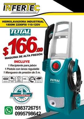 HIDROLAVADORA INDUSTRIAL 1800W 2200PSI