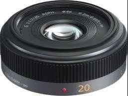 Lente Panasonic Lumix G, f/1.7 II ASPH de 20 mm