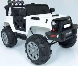 Carro Eléctrico Montable Para Niño - Jeep Blanco 12v