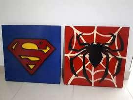 Cuadros de super héroes
