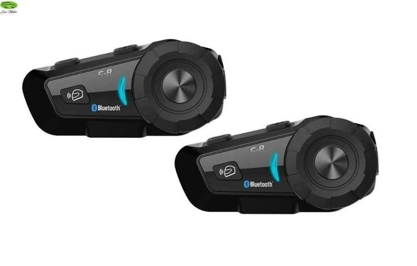 COMBO X2 Intercomunicador Bluetooth Moto SCSETC S8 Radio Fm Casco