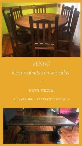 Vendo Mesa Y Sillas de Algarrobo