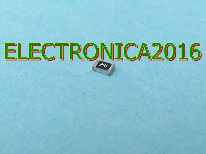 100x Resistencia Smd 0805  240 Ohm Superficial 2mmx1.2mm 0