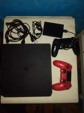Ps4 Slim 500 Gb + Memoria Externa 2tb+ 2 Joysticks