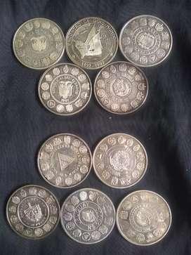 Vendo colección de monedas antiguas en plata