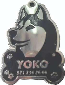 Placa para mascotas