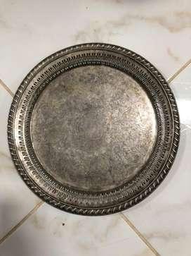 Charol en bronce baño de plata