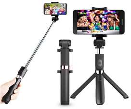 Palo Selfie Celular, Minitrípode 3 en 1 Inalámbrico. Bluetooth.