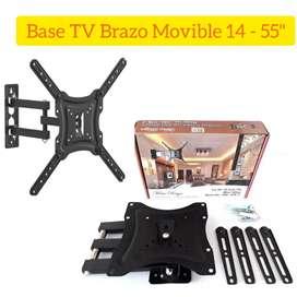 Soporte Base TV de pared Movible 14 a 55 Mosquera Cund