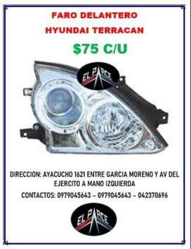 FARO DELANTERO TERRACAN 75c/U GUIA ESQUINERA 20c/U NEBLINEROS 50 PAR