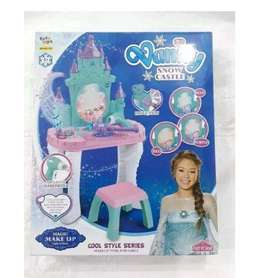 Tocador Peinador Castillo Magico Azul Princesas  Niñas