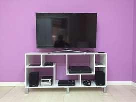 Rack Modular Mesa Tv Cubo Con Diseño Hasta 60'' Dvd Home