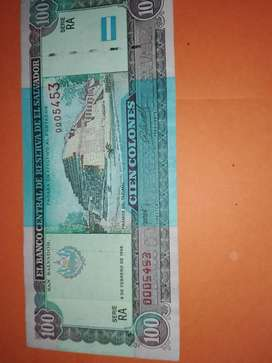 BILLETE SALVADOREÑO