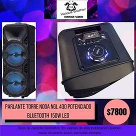 PARLANTE TORRE NOGA NGL 430 POTENCIADO BLUETOOTH 150W LED