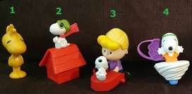 Muñecos Plastico Moviles Snoopy Mc Donalds Burger King ASP