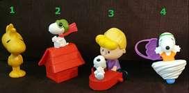 Muñecos Plastico Moviles Snoopy Mc Donalds Burger King ASP