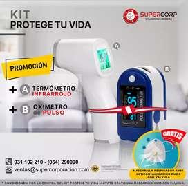 Pulso Oximetro De Pulso - Contec +Termometro infrarrojo