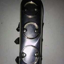 Brazalete de Cuero, Argollas Y Aluminio