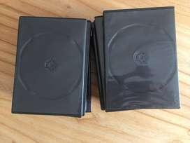 pack de 48 cajas Nuevas de DVD/CD negras con folio