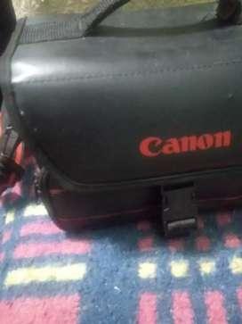 Bolso de Cuero Original porta camara y lente CANNON