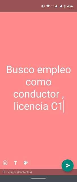 Busco Empleo Como Conductor , Licenciac1