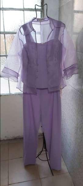 Congunto De Vestir Color Lila De Mujer