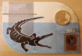 Blister Moneda Cocodrilo