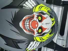 Casco Moto SHOX Talla M RAGE II Clown