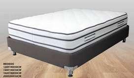 Super Colchón Ortopedico + Protector + 2 almohadas