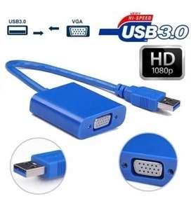 Cable Adaptador Usb 3.0 A Vga Placa de vídeo externa