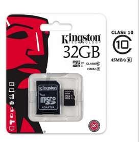 Tarjeta de Memoria MicroSD Kingston de 32GB + Adaptador