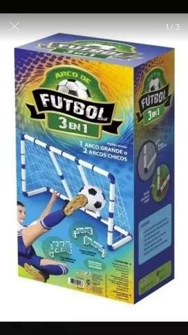 Arco de fútbol 3 en 1