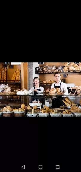 Personal masculino para ventas en panadería