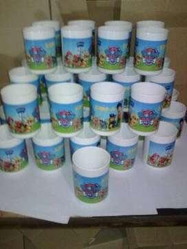 """Vaso de plástico personalizado a tu gusto """" promo x 10 vasos"""""""